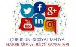 Sosyal medya sitelerinde Çubuk'un hesapları